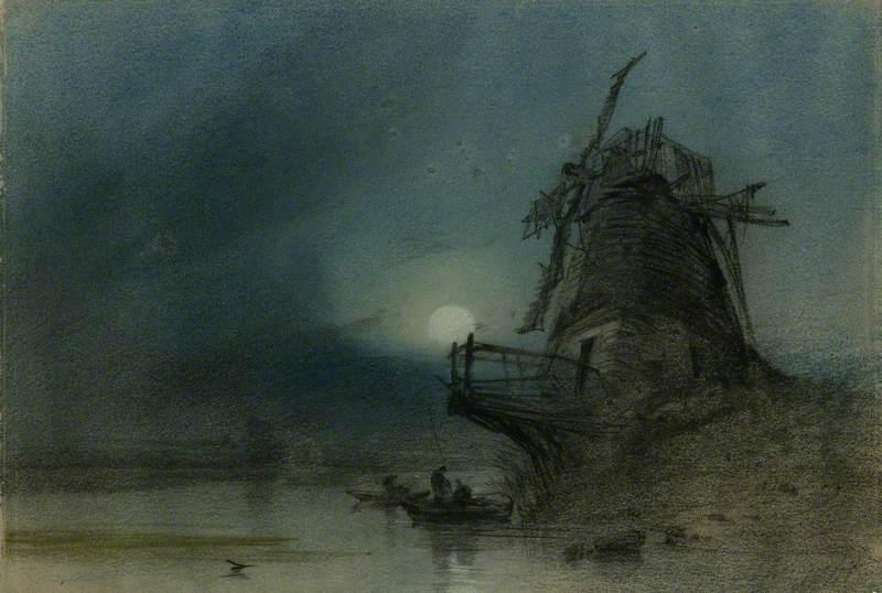 Old Mill, Moonlight