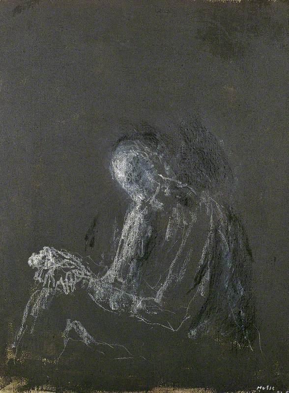 Luminous Figure on a Dark Ground