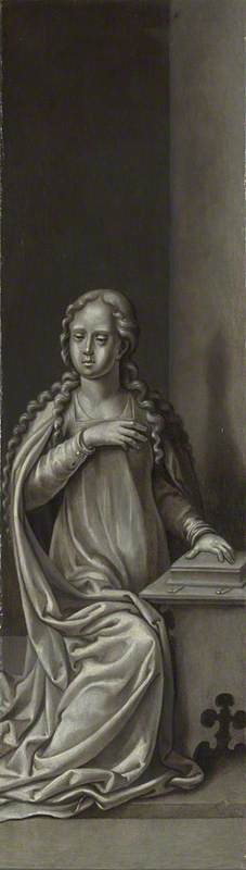 The Virgin Annunciate: Reverse of Right Hand Shutter