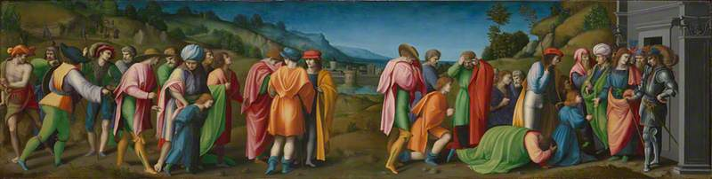 Joseph pardons his Brothers