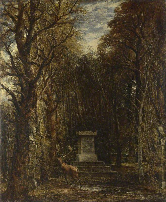 Cenotaph to the Memory of Sir Joshua Reynolds, erected in the grounds of Coleorton Hall, Leicestershire by the late Sir George Beaumont, Bt.
