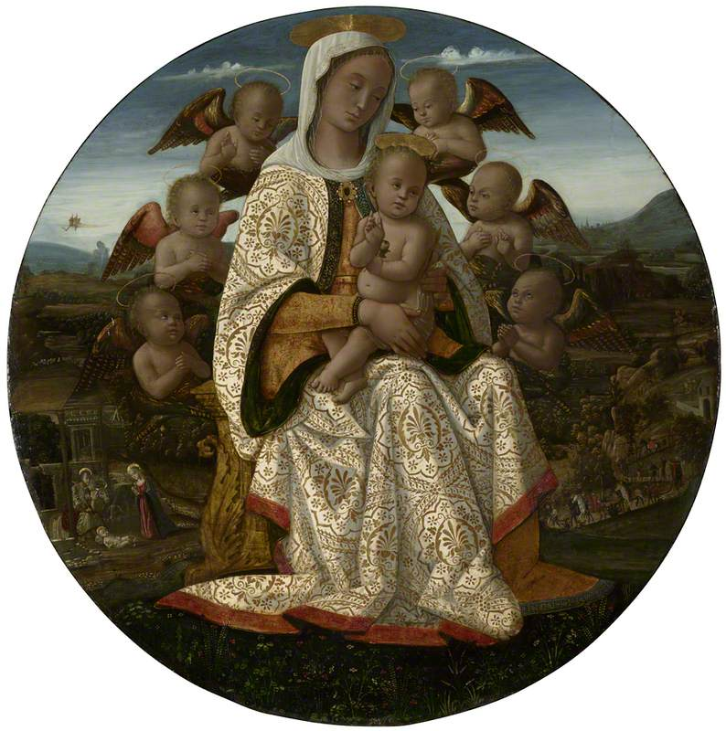 The Virgin and Child with Cherubim