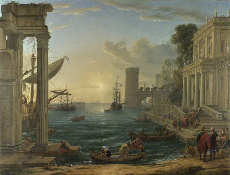 Seaport with the Embarkation of the Queen of Sheba