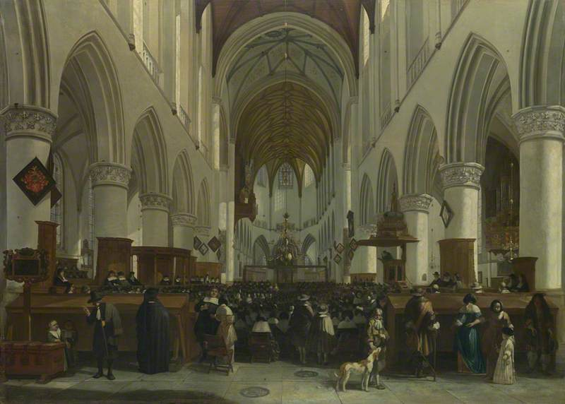 The Interior of the Grote Kerk, Haarlem