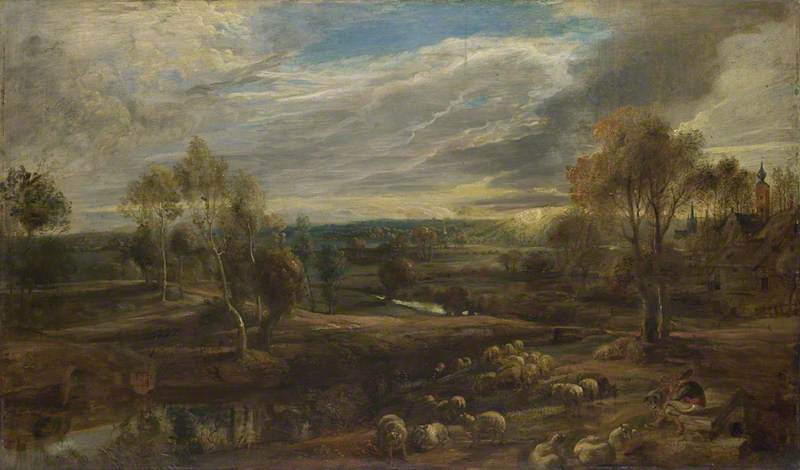 A Landscape with a Shepherd and his Flock