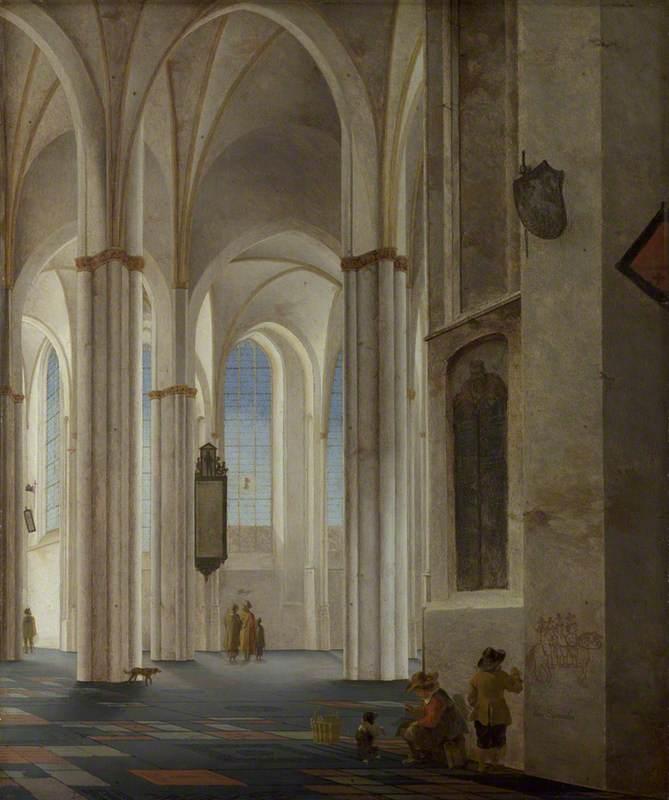 The Interior of the Buurkerk at Utrecht