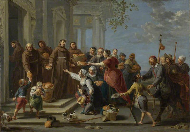 Saint Anthony of Padua (?) distributing Bread
