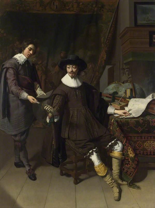 Portrait of Constantijn Huygens and his (?) Clerk