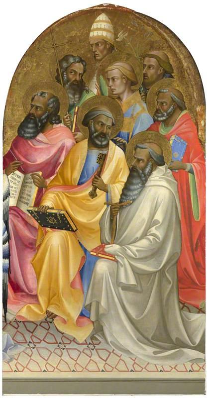 Adoring Saints: Right Main Tier Panel