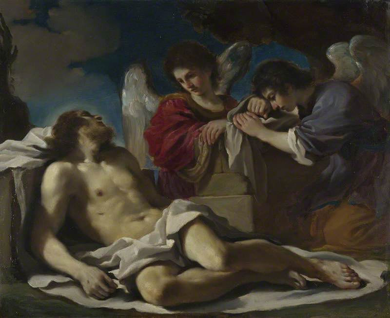 The Dead Christ mourned by Two Angels
