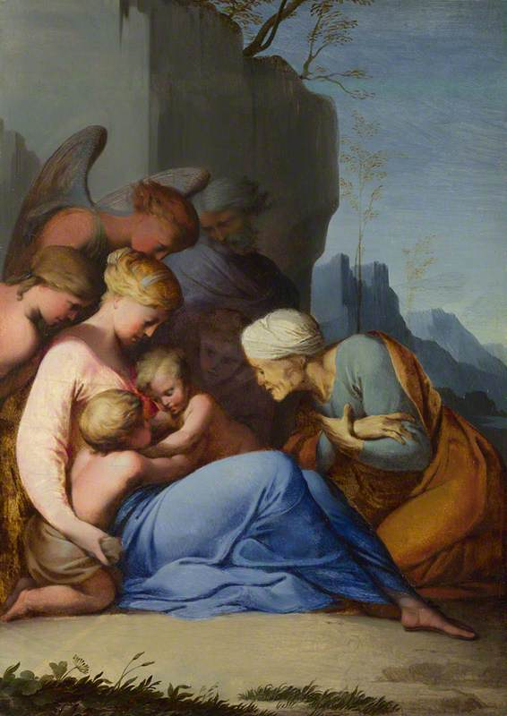 Holy Family with the Infant Saint John the Baptist, Saint Elizabeth and Three Figures
