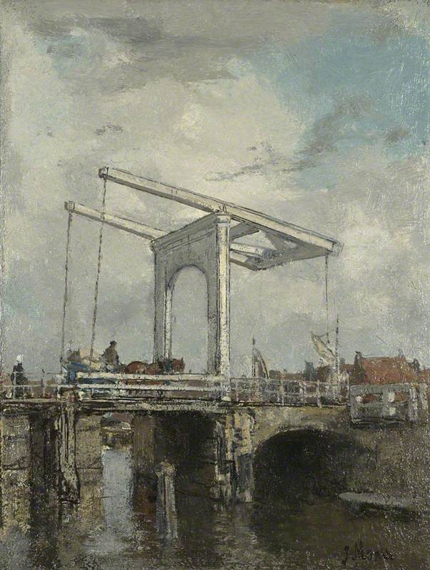A Drawbridge in a Dutch Town
