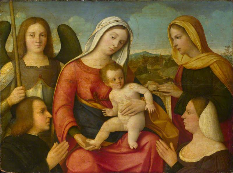 The Virgin and Child with Saints Michael and Veronica and Two Donors