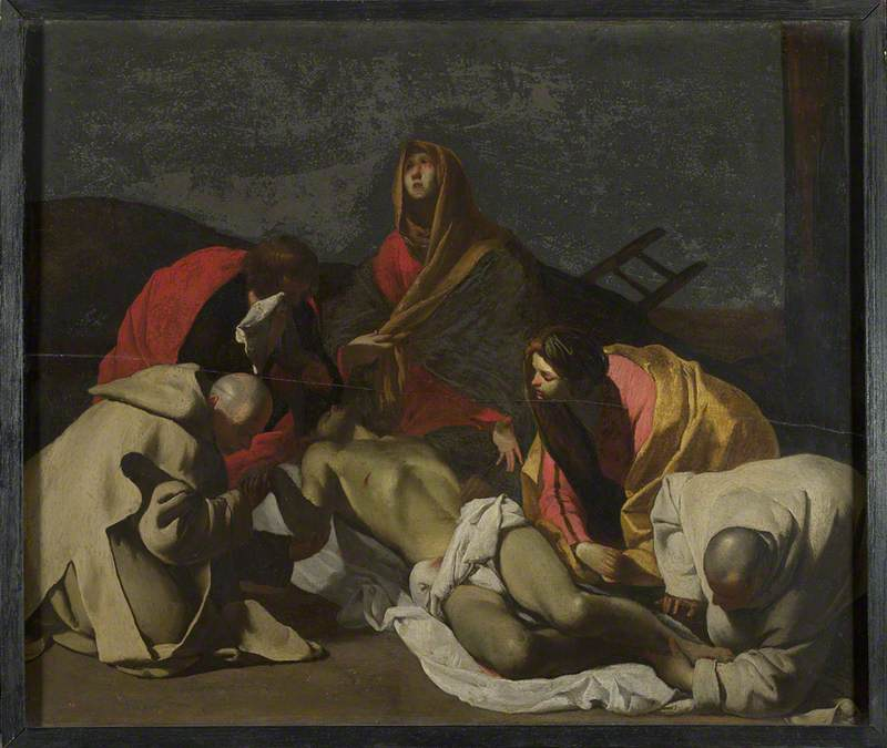 Monks and Holy Women mourning over the Dead Christ