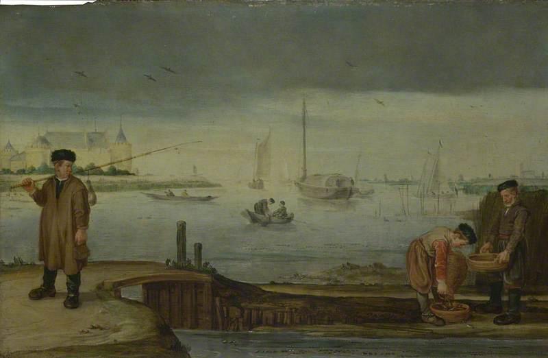 Fishermen near Muiden Castle