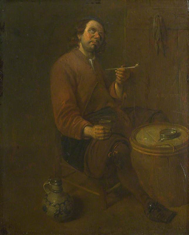 A Peasant seated smoking