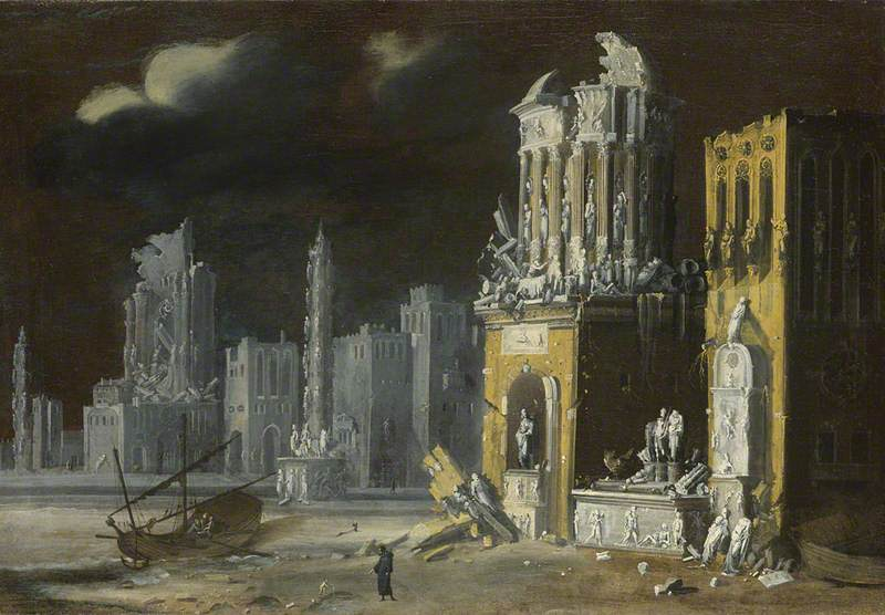 Fantastic Ruins with Saint Augustine and the Child