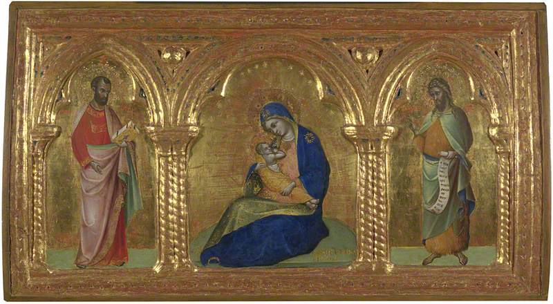 The Madonna of Humility with Saints Mark and John the Baptist