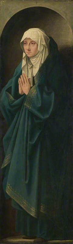 A Female Figure standing in a Niche
