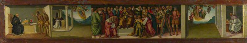 Esther before Ahasuerus, and Three Episodes from the Life of Saint Jerome