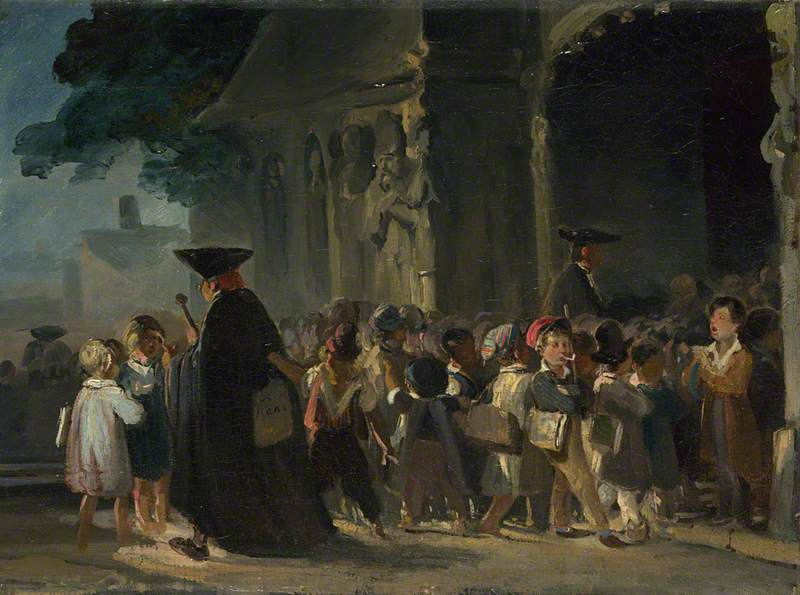 Children at a Church Door