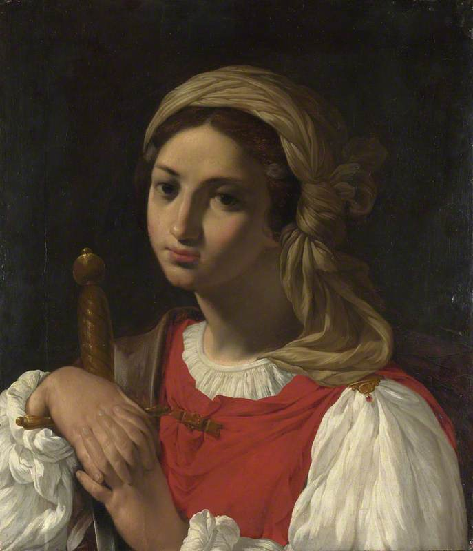A Female Figure resting on a Sword (Saint Catherine of Alexandria?)