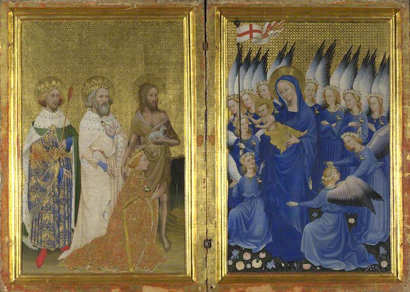 Richard II presented to the Virgin and Child by his Patron Saint John the Baptist and Saints Edward and Edmund ('The Wilton Diptych')