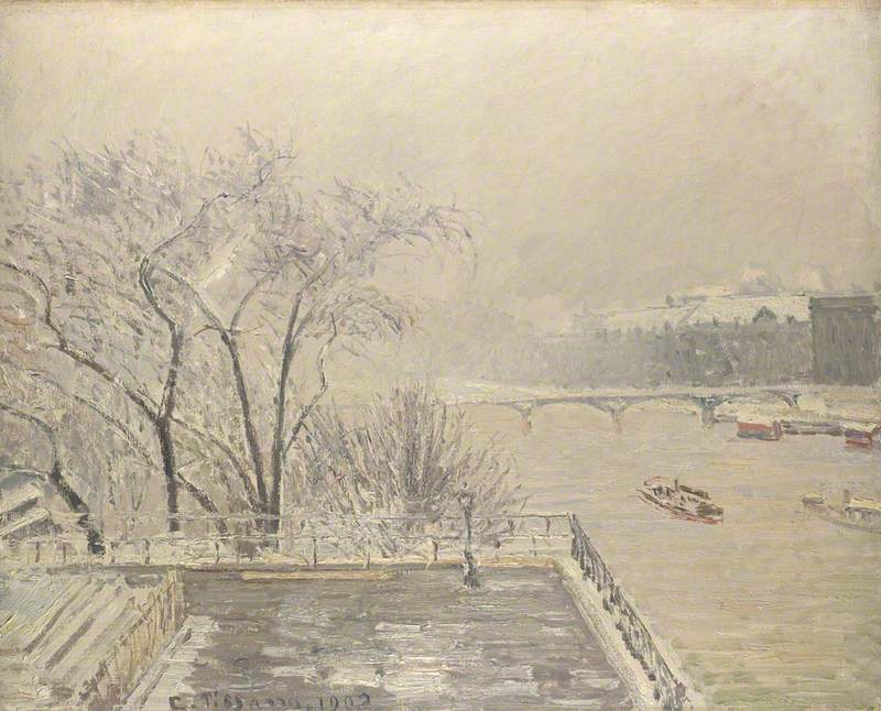 The Louvre under Snow