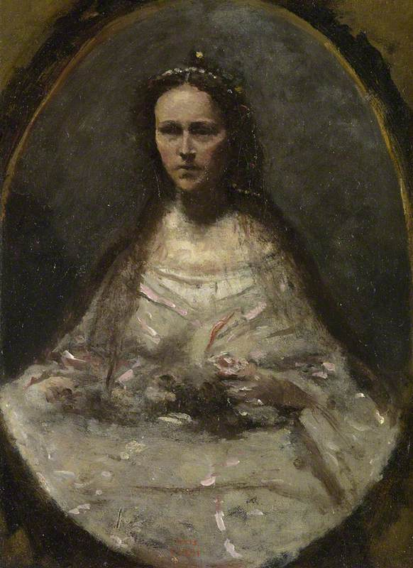 Sketch of a Woman in Bridal Dress