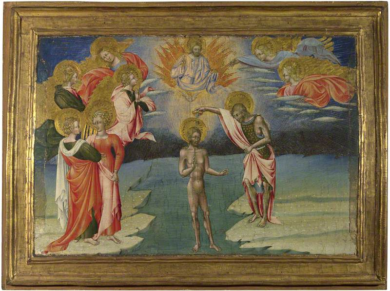 The Baptism of Christ: Predella Panel