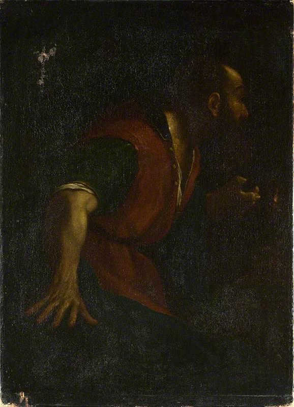 A Bearded Man holding a Lamp