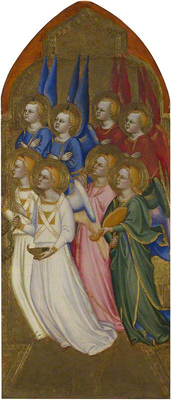 Seraphim, Cherubim and Adoring Angels: Right Pinnacle Panel