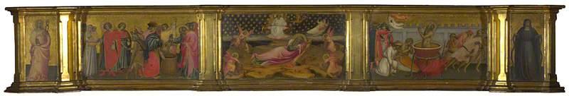 Three Scenes from the Life of Saint John the Evangelist: Predella