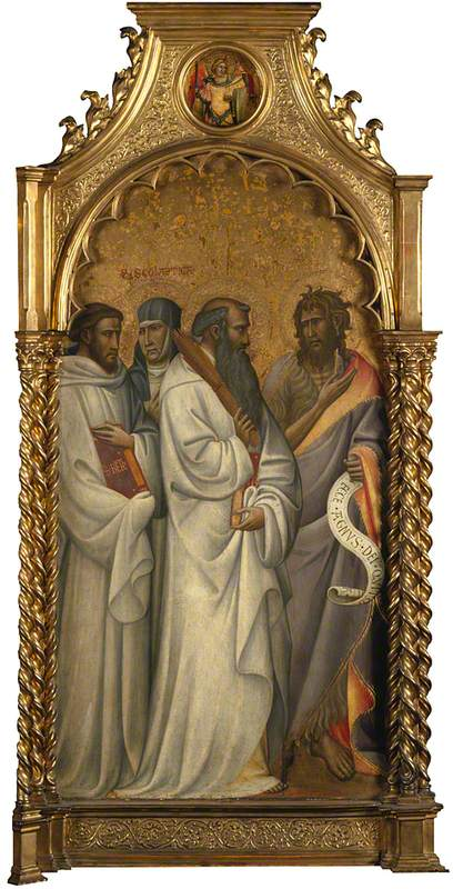 Saints Bernard, Scholastica, Benedict and John the Baptist: Main Tier Left Panel