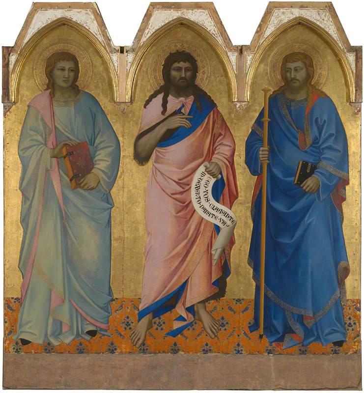 Saint John the Baptist with Saint John the Evangelist (?) and Saint James