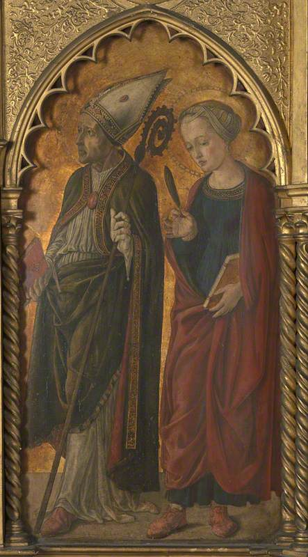 A Bishop (Donatus?) and a Female Martyr (Antilla?): Main Tier Right Panel