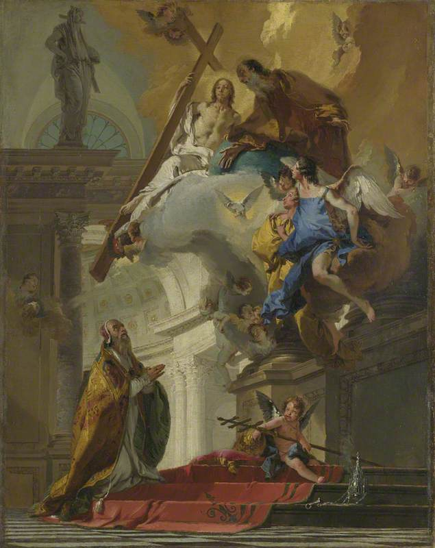 A Vision of the Trinity appearing to Pope Saint Clement (?)
