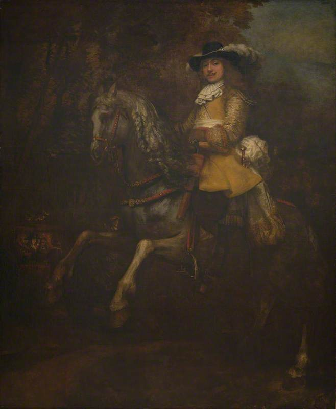 Portrait of Frederick Rihel on Horseback