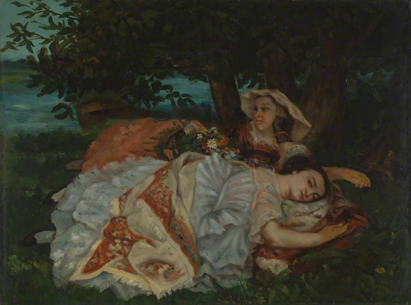 Young Ladies on the Bank of the Seine