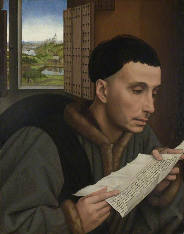 A Man Reading (Saint Ivo?)