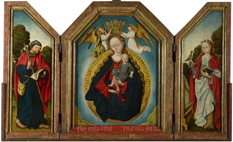The Virgin and Child in Glory with Saint James the Great and Saint Cecilia
