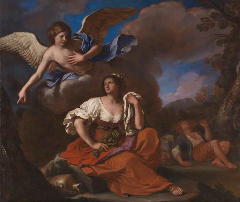 The Angel appears to Hagar and Ishmael