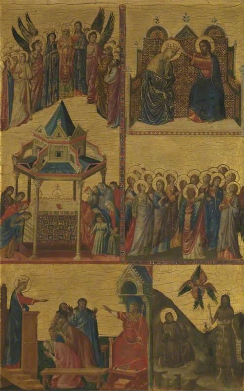 Scenes from the Lives of the Virgin, Saint John the Evangelist, Saint Catherine of Alexandria, Saint Francis and Saint John the Baptist