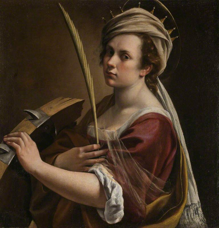 Self Portrait as Saint Catherine of Alexandria