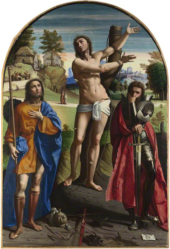 Saints Sebastian, Roch and Demetrius