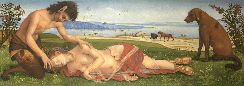 A Satyr mourning over a Nymph