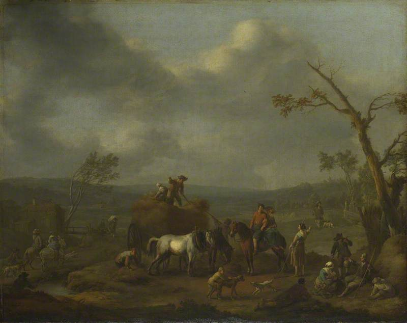 Peasants loading a Hay Cart