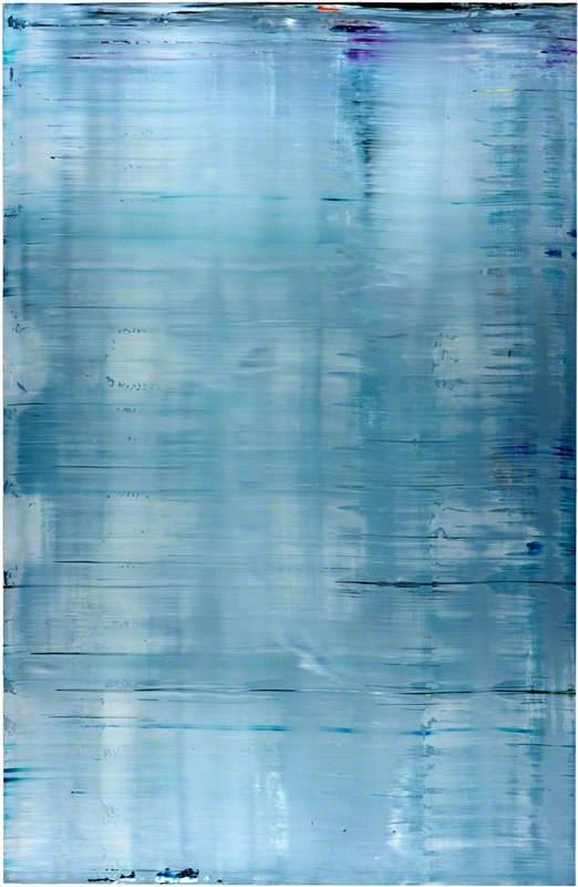 Abstraktes Bild (Grau) (880-3) (Abstract Painting (Grey))