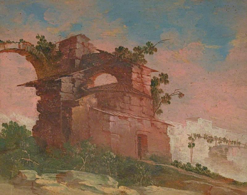 Landscape Capriccio with Ruined Buildings