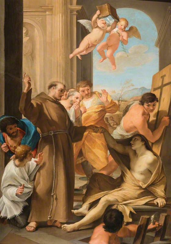 Saint Anthony Abbot Reviving a Dead Man